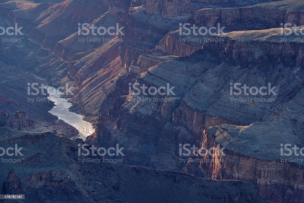 Colorado River, South Rim, Grand Canyon stock photo