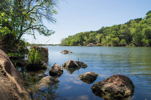 Colorado river, Texas stock photo