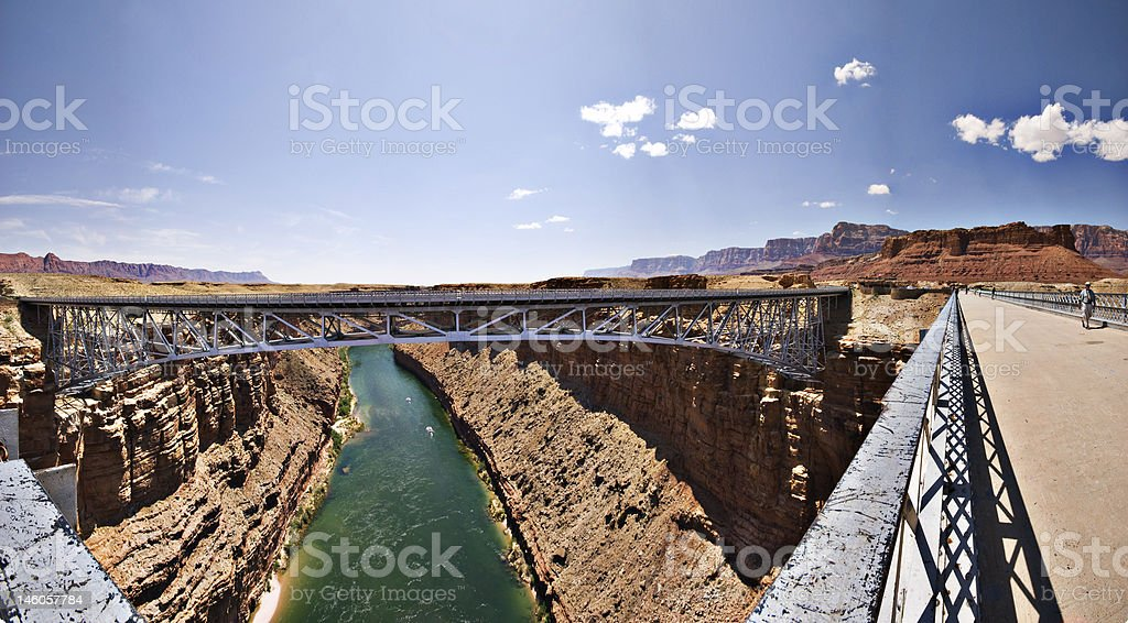 Colorado River Wide Angle 3 royalty-free stock photo