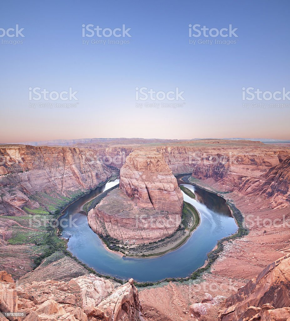 Colorado river with horseshoe Page Arizona, USA stock photo