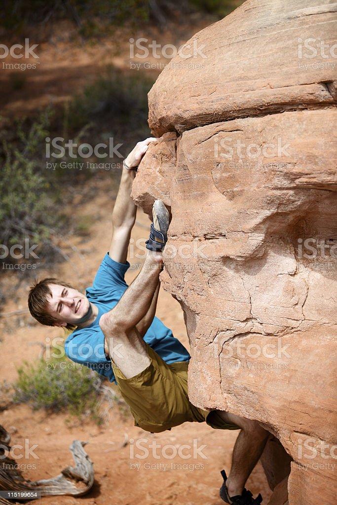 Colorado rock climbing portraits royalty-free stock photo