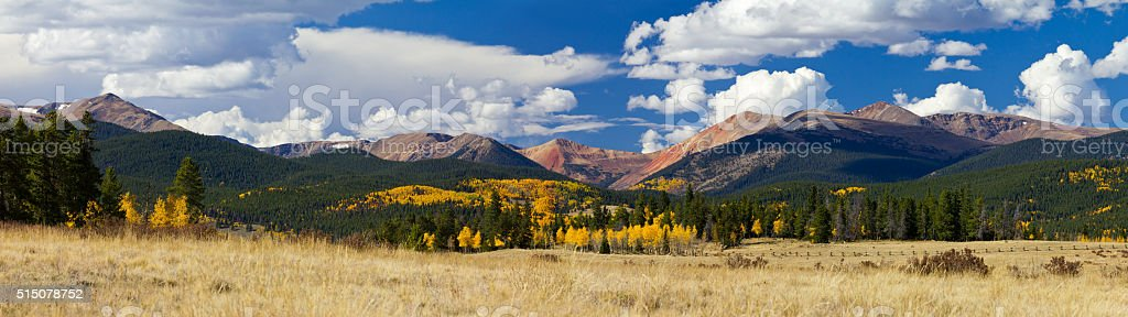 Colorado Rocky Mountains in Fall stock photo
