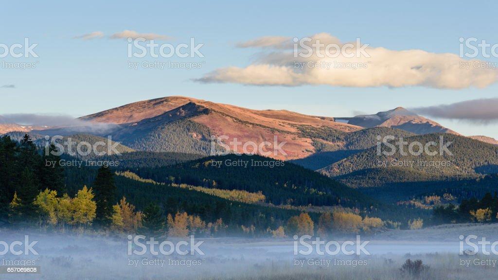 Colorado Scenic Beauty - Kenosha Pass in the Autumn stock photo
