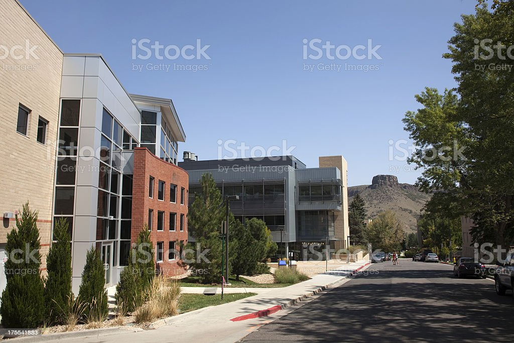 Colorado School of Mines and Castle Rock stock photo