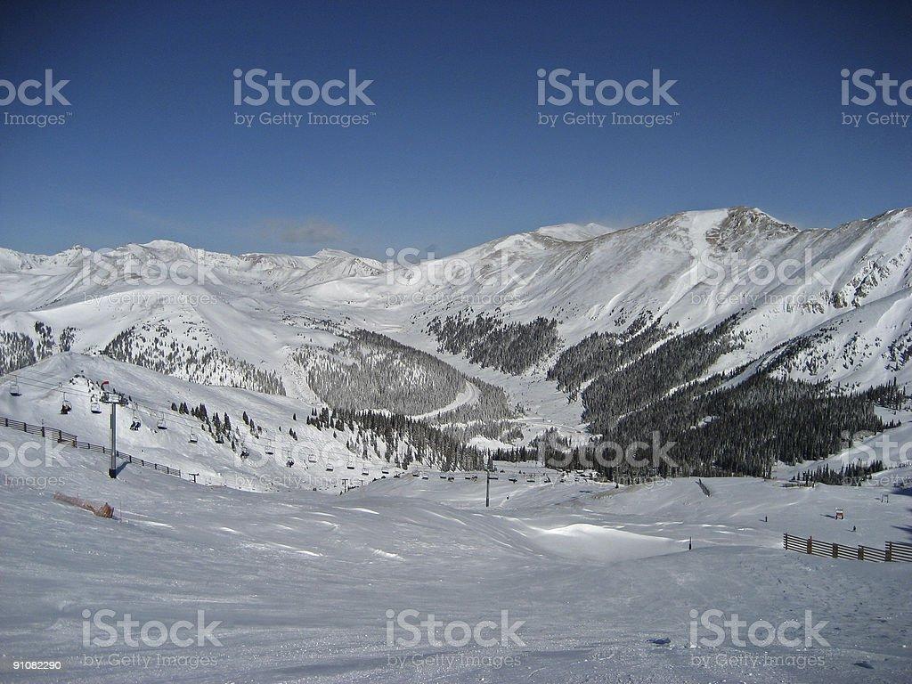 Colorado Ski Resort stock photo