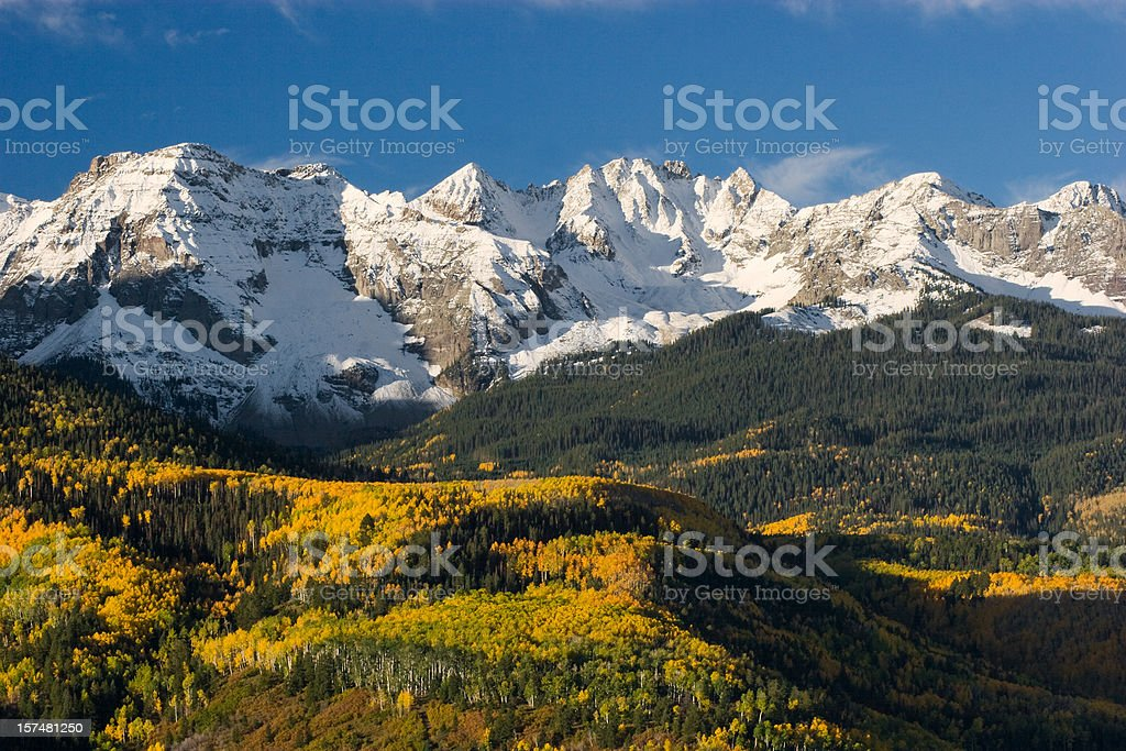 Colorado Snow Capped Peak stock photo