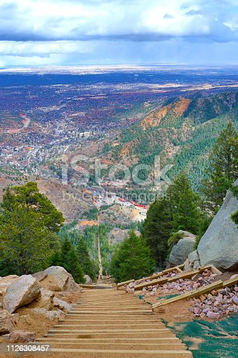 Colorado Springs from Manitou Incline