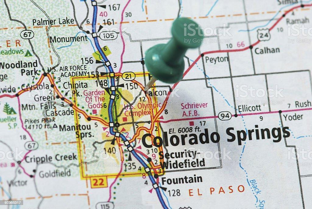Colorado Springs royalty-free stock photo