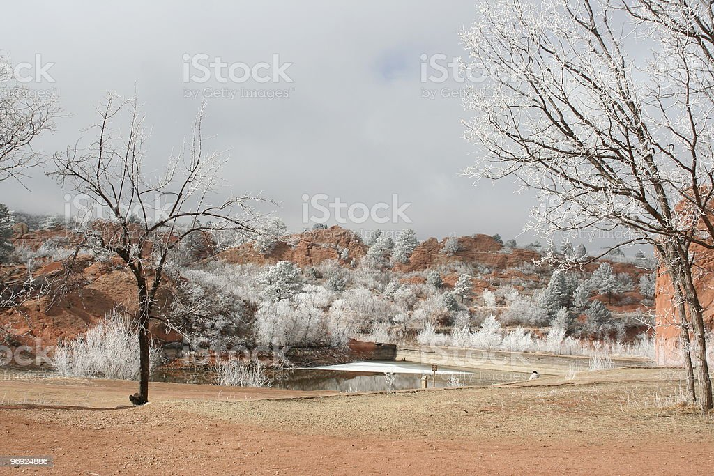 Colorado Springs Red Canyon Park in winter royalty-free stock photo