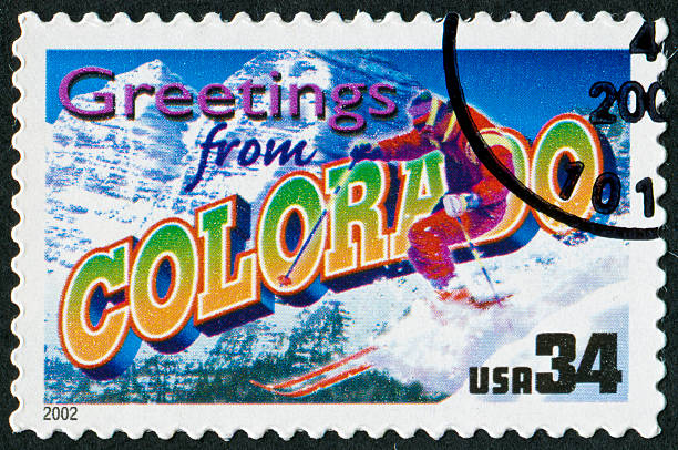 Colorado Stamp Stock Photo
