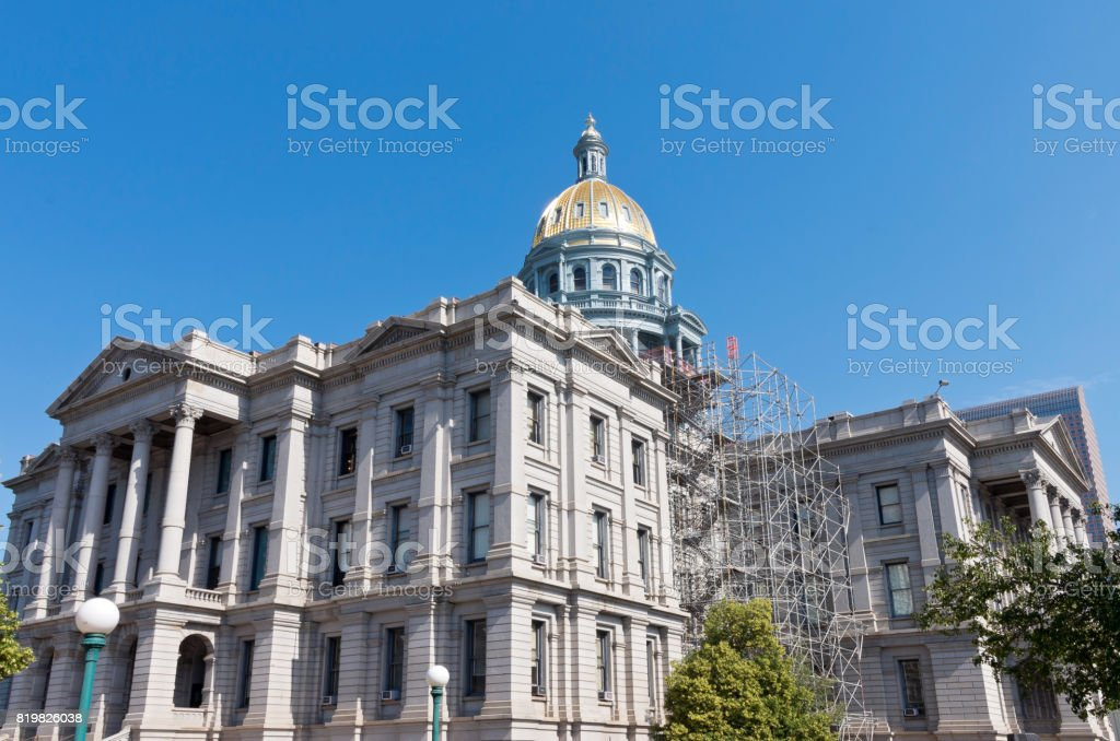 Colorado State Capitol and Gold Dome stock photo