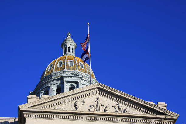 colorado state capitol building in denver - colorado state capitol stock photos and pictures