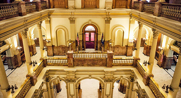 colorado state capitol building - colorado state capitol stock photos and pictures