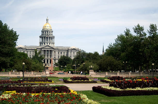 colorado state capitol, denver - colorado state capitol stock photos and pictures
