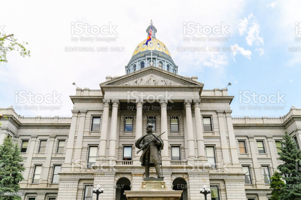 Colorado State Capitol Entrance foto stock royalty-free
