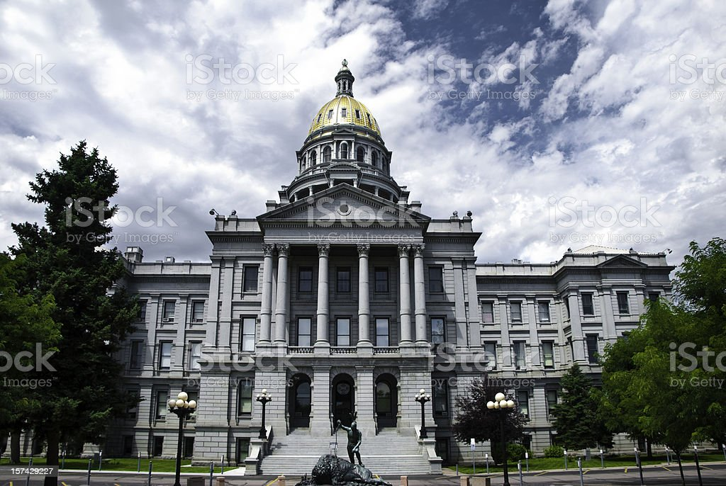 Colorado state capitol in Denver, CO stock photo