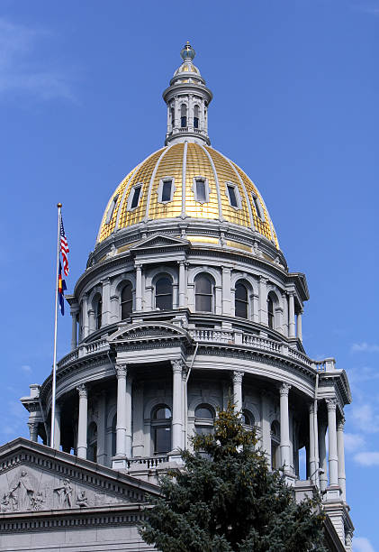 colorado state capitol - colorado state capitol stock photos and pictures