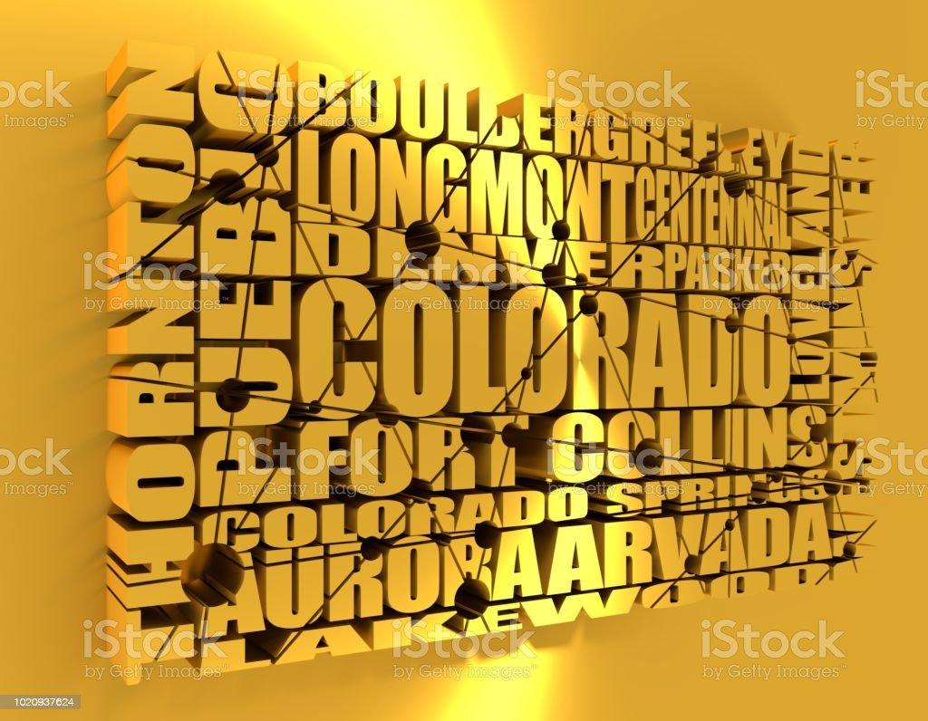 Colorado state cities stock photo