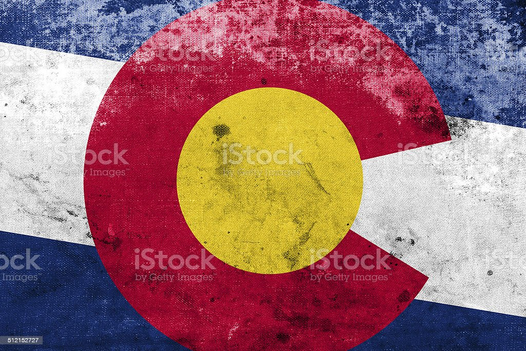 Colorado State Flag with a vintage and old look stock photo