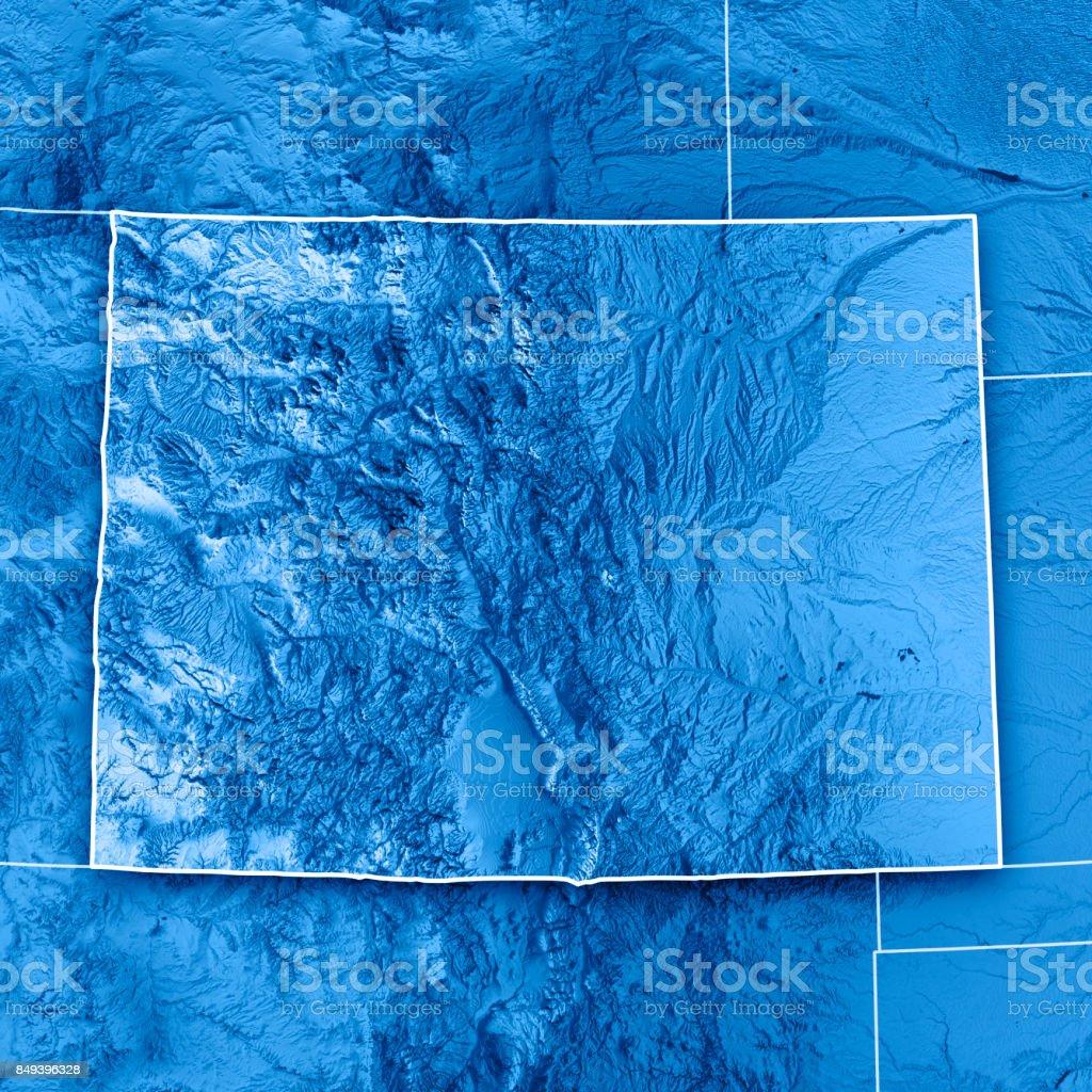 Colorado Karte Fluss.Colorado State Usa 3drender Topographische Karte Blau