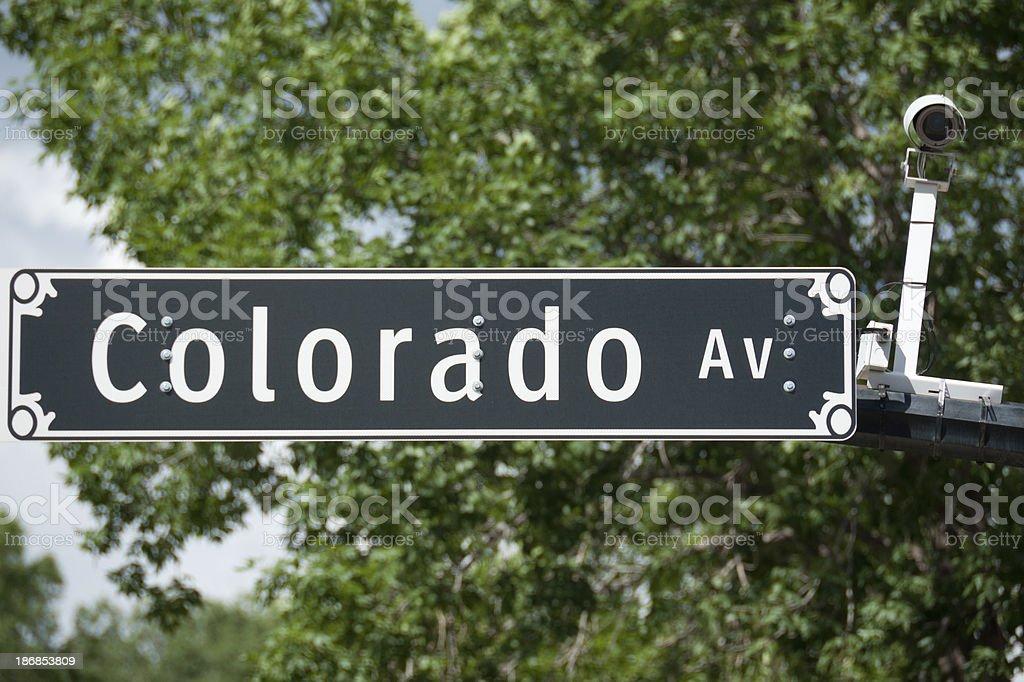 colorado street sign royalty-free stock photo