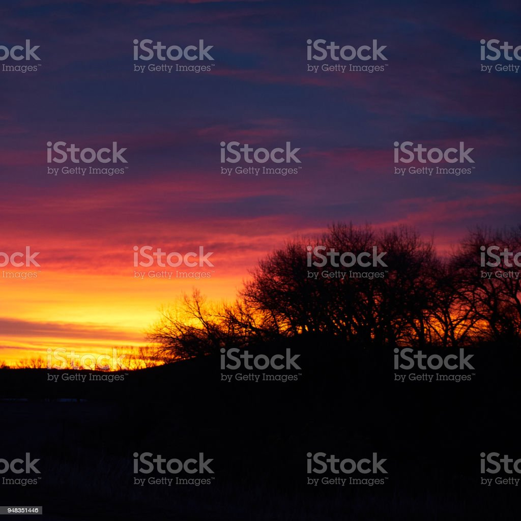 Colorado sunrise stock photo