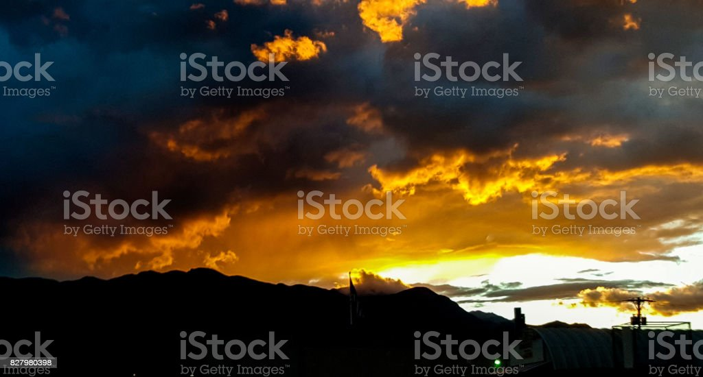 Colorado Sunset stock photo