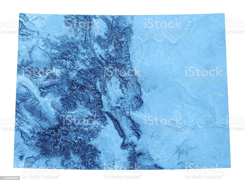 Colorado Topographic Map Isolated stock photo