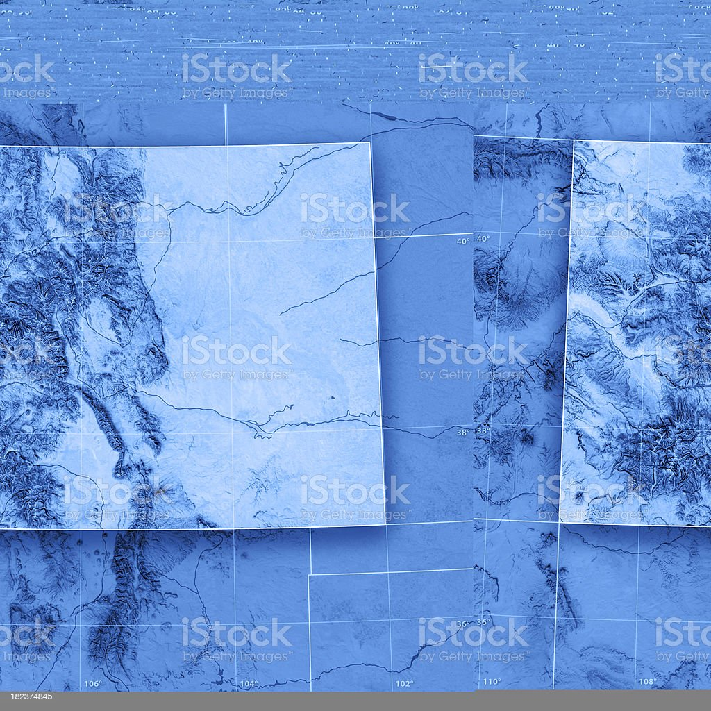 Colorado Topographic Map royalty-free stock photo