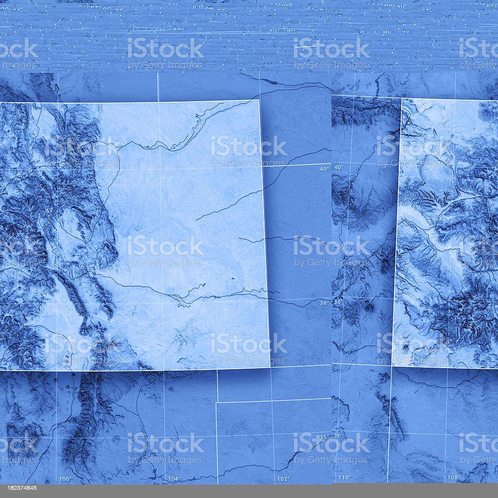 Colorado Topographic Map stock photo
