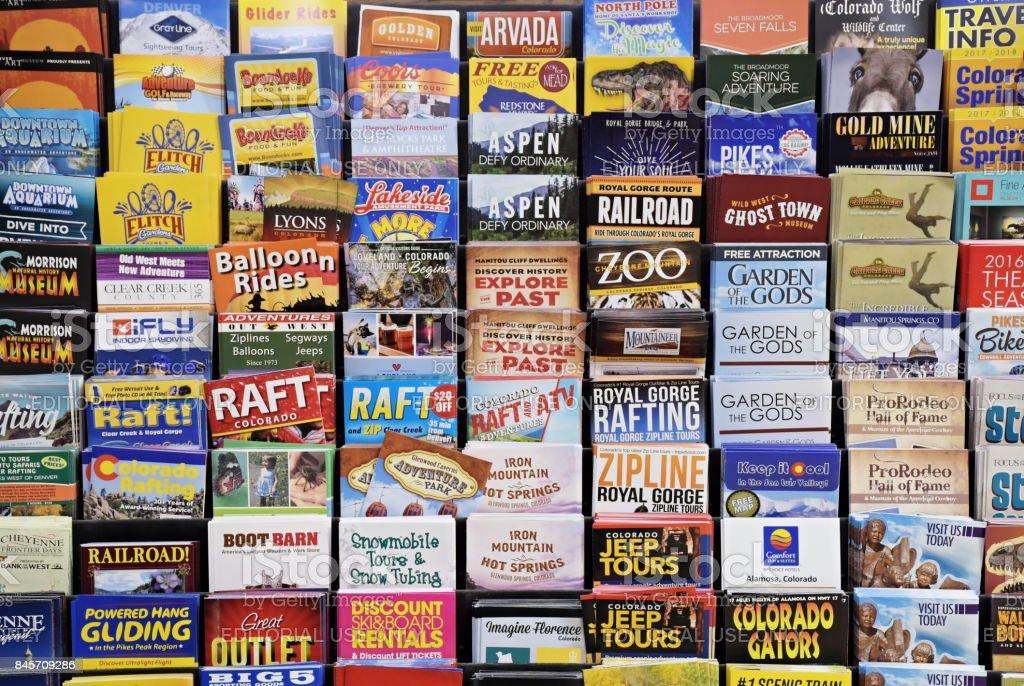 Colorado Tourist Brochures stock photo