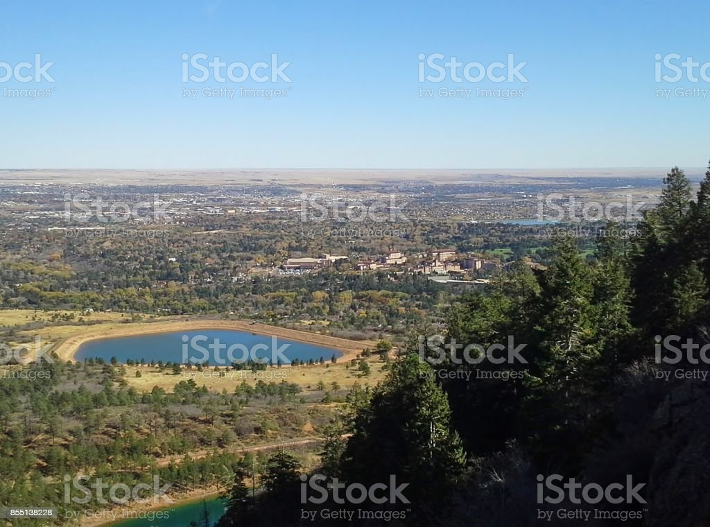 Colorado View Over Reservoir stock photo