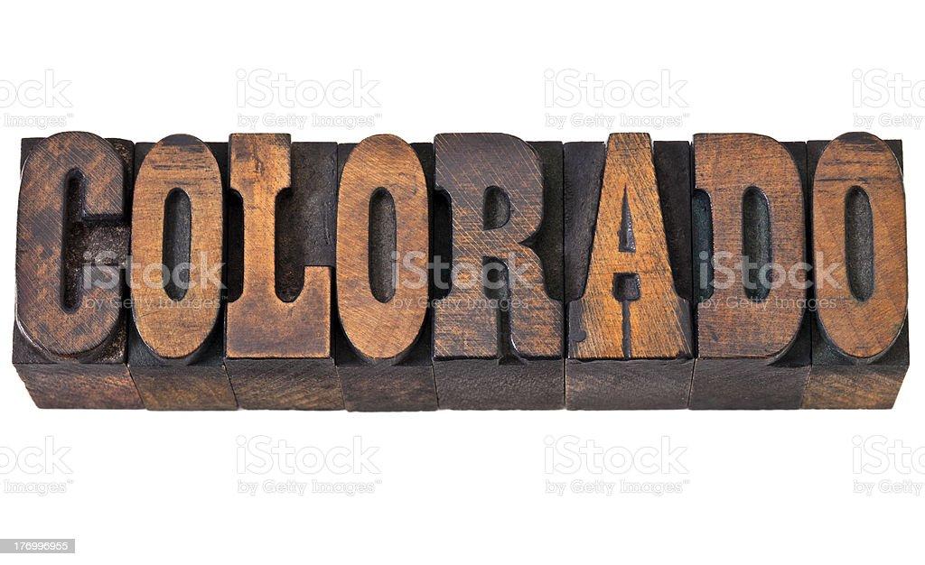 Colorado - western style type royalty-free stock photo