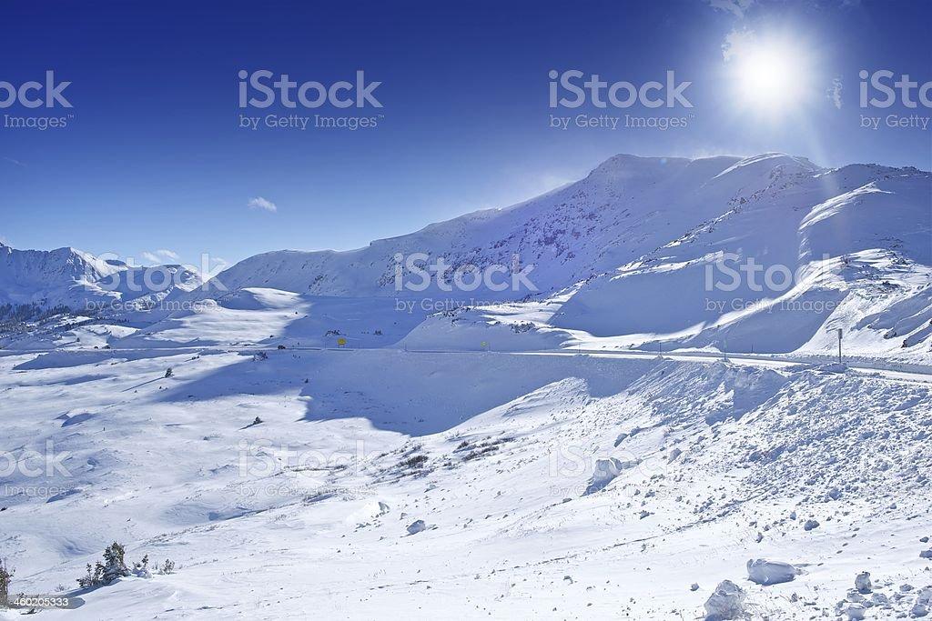 Colorado Winter Panorama stock photo