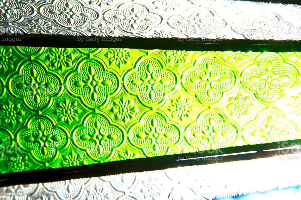 colorated  sun in morocco africa window and stock photo