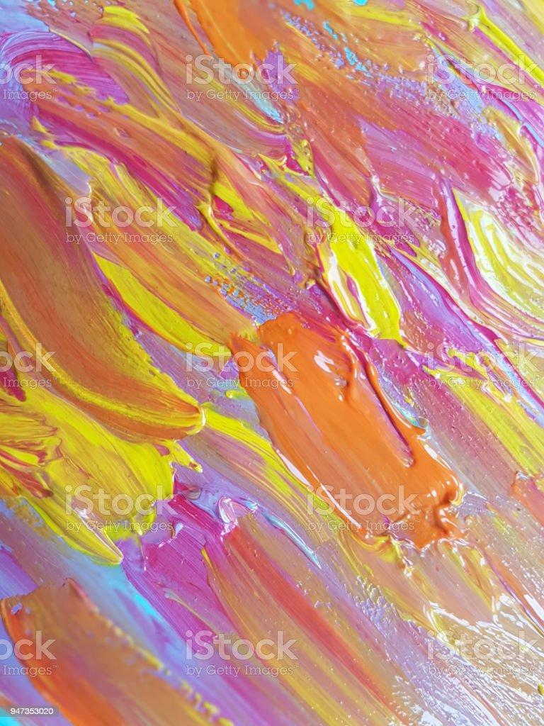 Photo Libre De Droit De Fond De Couleur De Peinture Acrylique