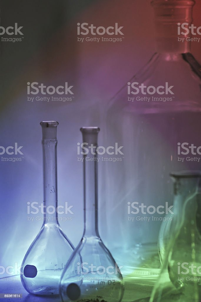 Colored Antique Vases and Bottles royalty-free stock photo