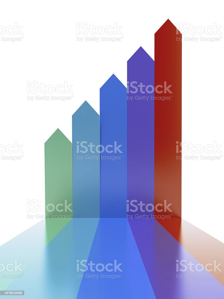 Colored arrows royalty-free stock photo
