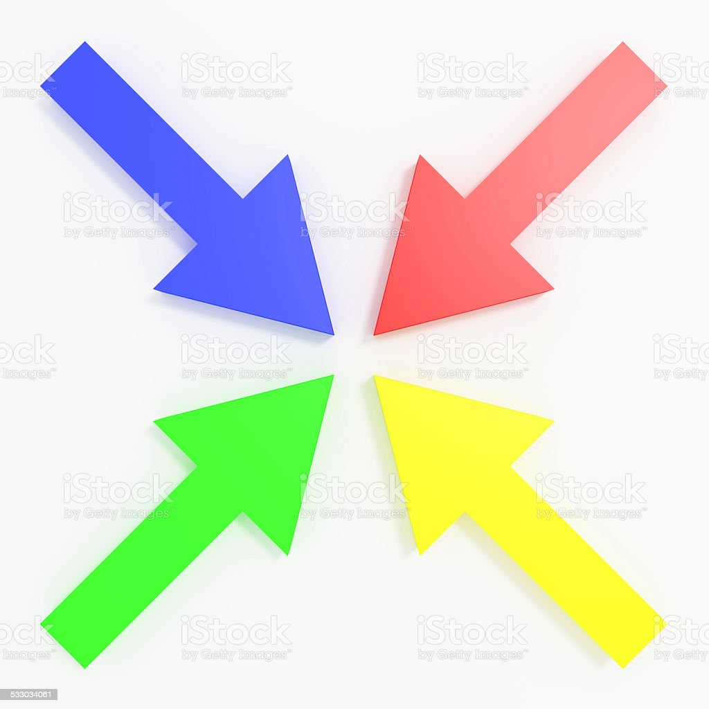 colored arrows stock photo