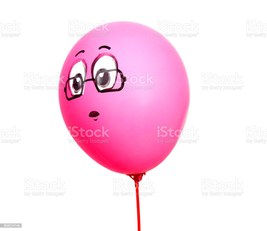 colored balloons isolated on a white background stock photo