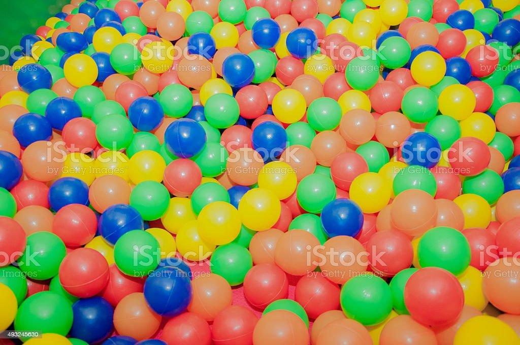 colored balls stock photo