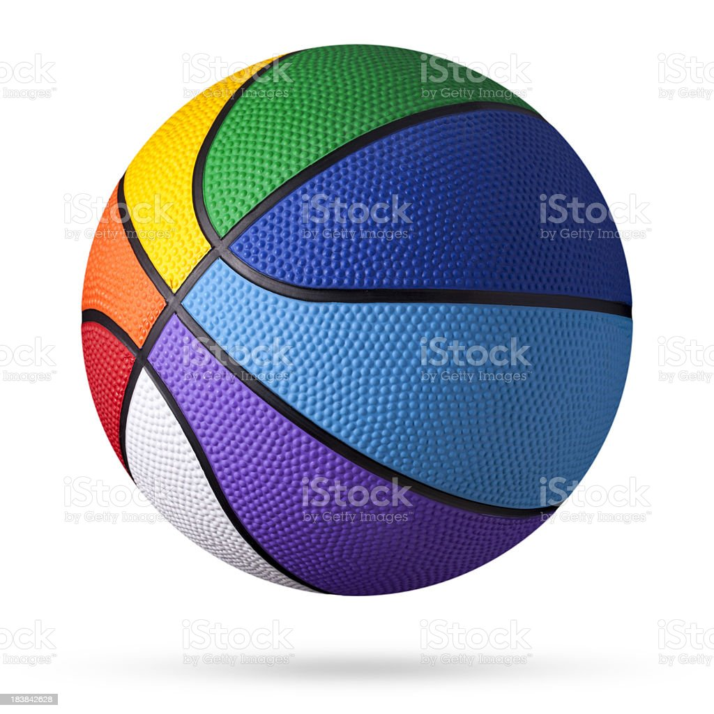 Colored basketball. stock photo