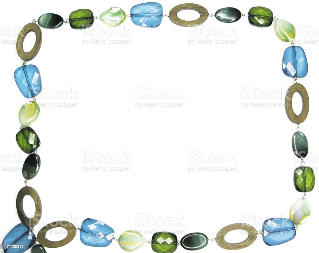 colored beads frame jewelery royalty-free stock photo