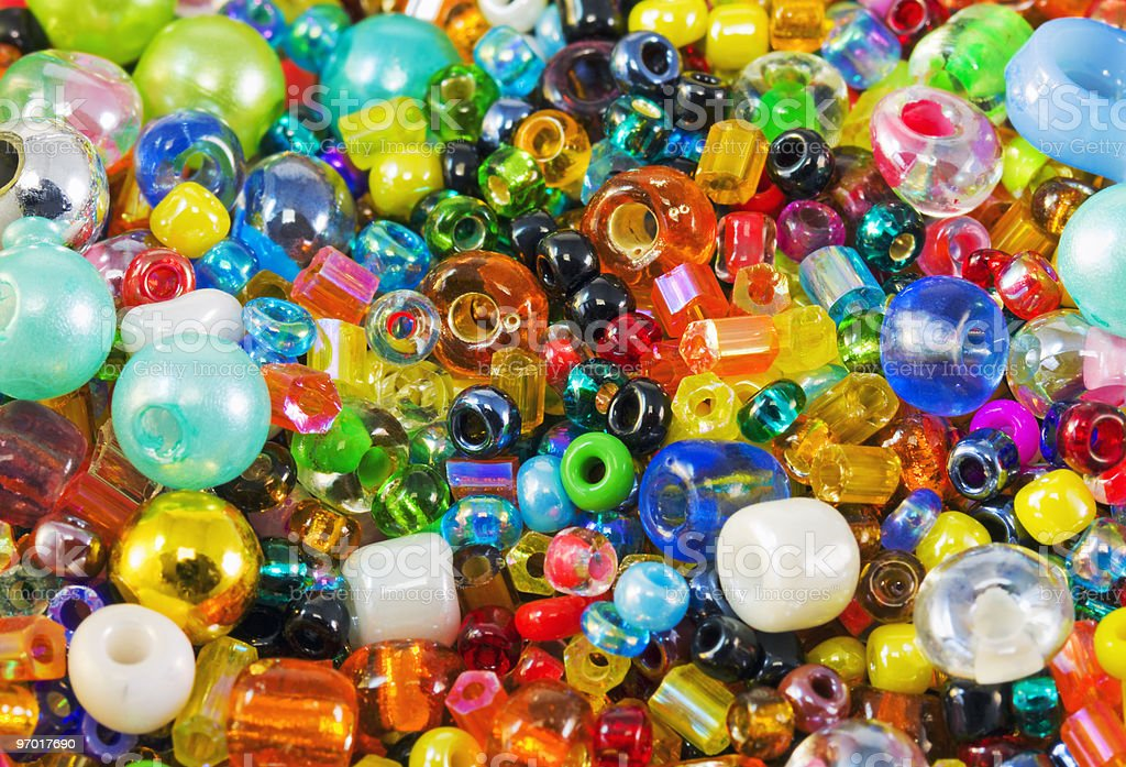colored beads royalty-free stock photo