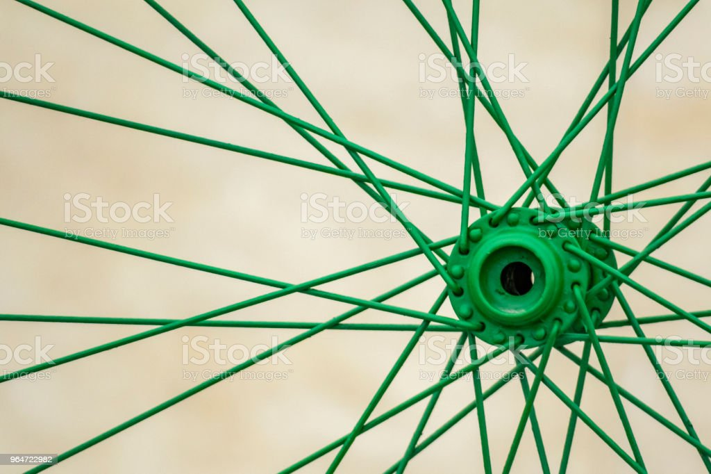 colored bicycle wheels and tires stock photo