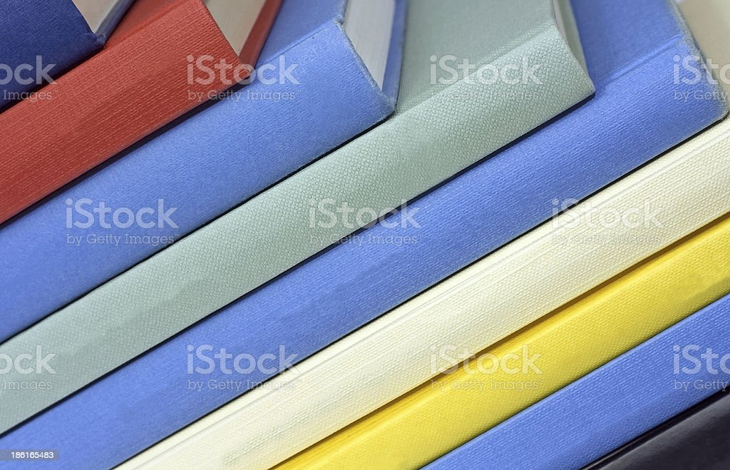 colored books isolated royalty-free stock photo