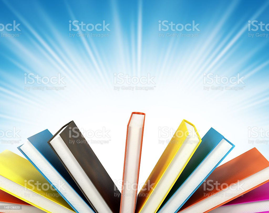colored books on abstract background royalty-free stock photo
