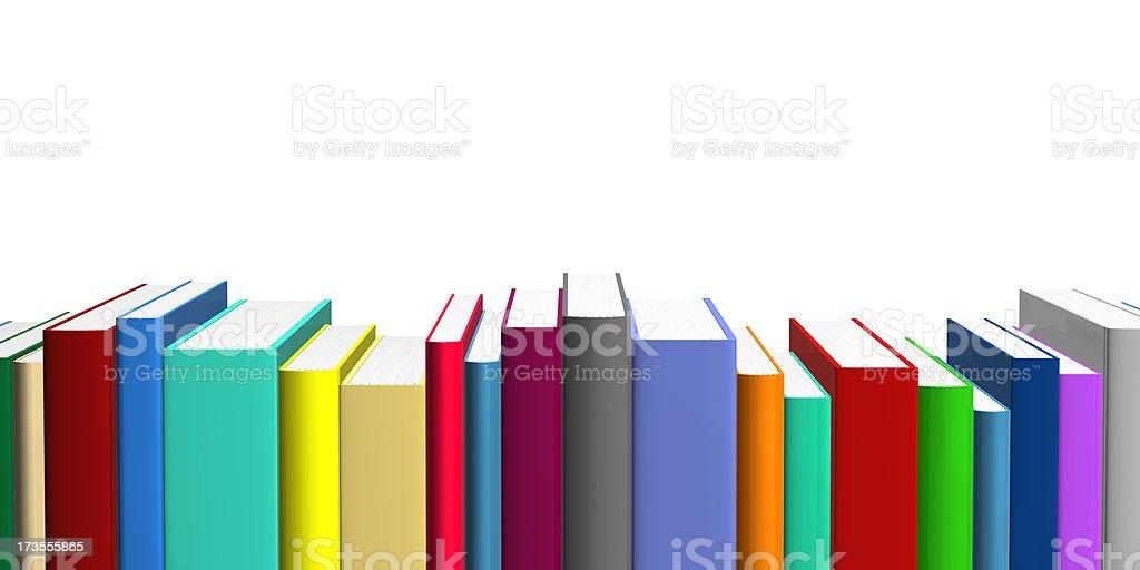 Colored Books stock photo