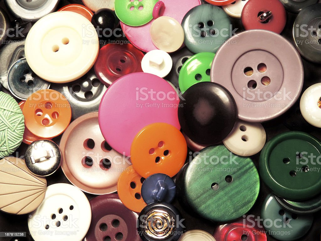 colored buttons stock photo