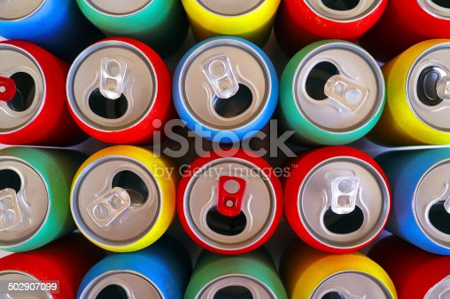 istock Colored Cans Top View 502907099